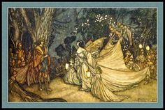 "Arthur Rackham — from ""A Midsummer's Night Dream"" (Oberon and Titania)"