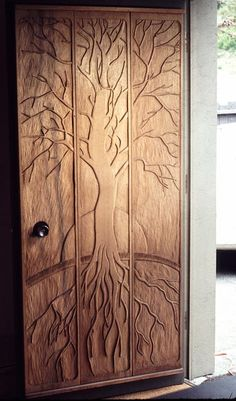Carved tree of life door from salamanderforge.com