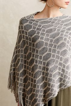 Chainlink Fringed Poncho