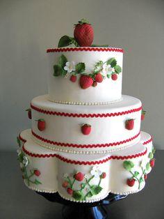 strawberry cakes, celebration cakes, strawberri cake, galleri, cake idea, strawberries, cake decor, wedding cakes, birthday cakes