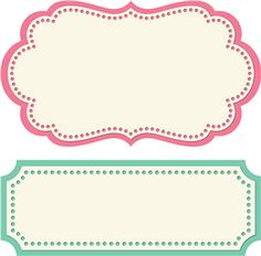 Label Shape Template 2 label shapes by lori