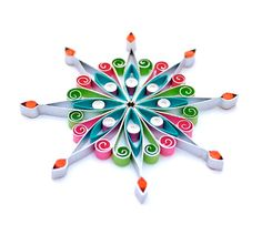 Christmas decoration, Eco-friendly, quilled