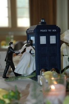 An awesome wedding cake topper.