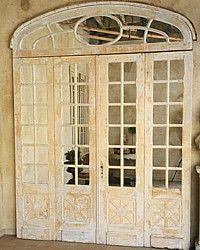 1930's Vintage Curved Top Architectural Chateau Doors Mirrored-antique french,mirror,accent,commercial,    French Garden House   8941 Atlanta Ave. #284   Huntington Beach, CA 92646   • (714)454-3231 •   All Rights Reserved © 2011 French Garden House