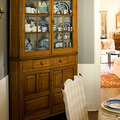 Paint colors. Cottage Makeover | Dining Room Source Guide | SouthernLiving.com