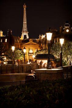 dream vacation spots, parisian night, dream vacations, disney world night