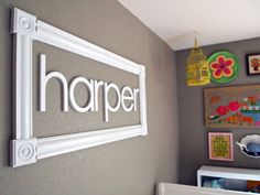 decor, craft, idea, frames, names, kid rooms, nurseri, babi, diy