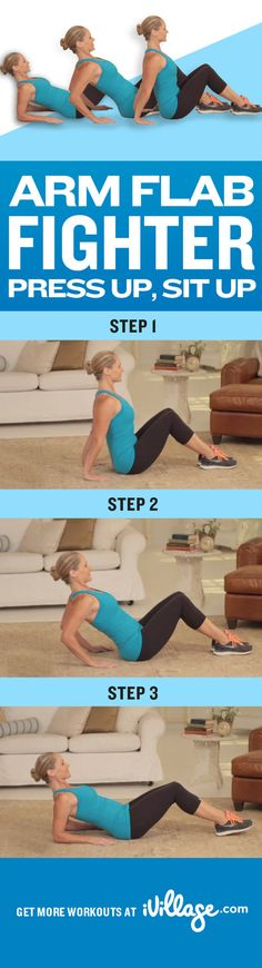 Simple exercises to tone your arms. #getbeachready http://www.ivillage.com/simple-arm-exercises-fight-flab/4-h-489481?cid=pin|workout|armflabfighter|12-12-12