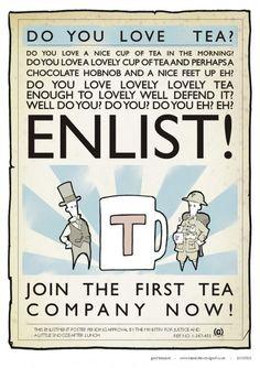 """""""Do you love tea?"""" Cool tea poster seen [...]"""
