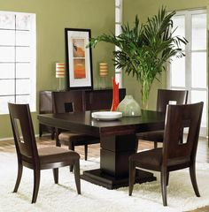 Pretty dining room decor
