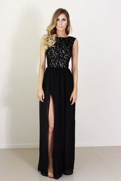 Ava black lace and silk formal prom bridesmaid by daysofglamour, $760.00