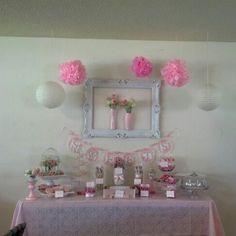 Dessert table, vintage baby shower