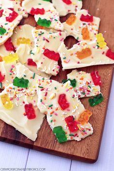 White Chocolate Gummi Bear Bark #ad @mccormickspice