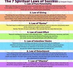 7 laws of success by Deepak Chopra