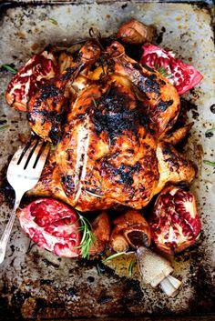pomegranate roasted chix