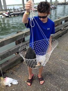 Chris Slubowski of Warrington, Pa., brought a 20-inch flounder up in a crab trap on the Grassy Sound Fishing Pier.