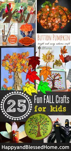 The ULTIMATE List of 25 Fun Fall Crafts for Kids #homeschool #preschool #halloween