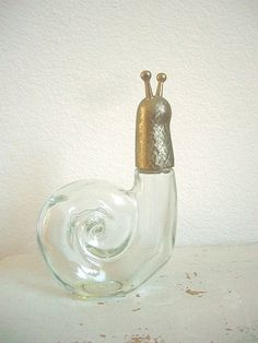 Vintage Avon Perfume Bottle - Glass Snail