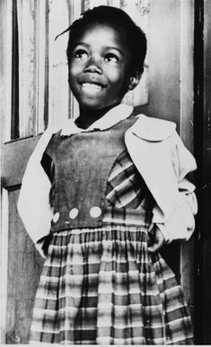 Ruby Bridges, 1960 Ruby Bridges (born 1954) was the first African American child to desegregate an elementary school when she walked into William Frantz Elementary school in New Orleans, Louisiana in 1960.