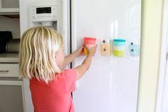 Easy DIY Fridge Magnet Cups for Kids