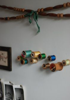 Spools as wall pegs, how to.