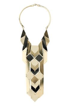 Graphic Section Collar Necklace - StyleSays
