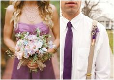 Radiant Orchid Bridesmaid + Groomsman