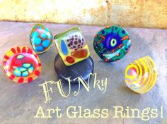 Adjustable Art Glass Rings. These guys make great gifts!