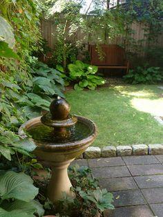 Peaceful back yard garden retreat on Willow Avenue