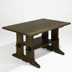 L. & J.G. STICKLEY trestle table