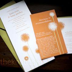 Orange Dandelion Invitations