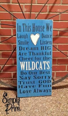 UK Wildcats Family Rules by asimplyprimdecor