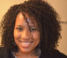 These crochet braids frame her face nicely!