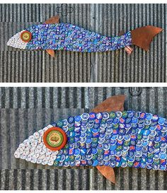 Recycled fish - bottle caps?
