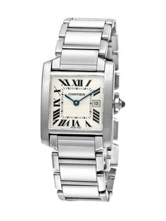 Cartier Tank Francaise Stainless Steel Midsize Watch, 25mm by Cartier at Gilt