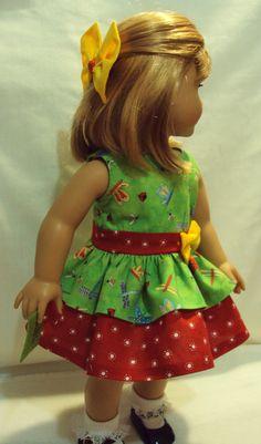 American girl Summer dress  and  18 inch dolls by craftymagaw, $18.99