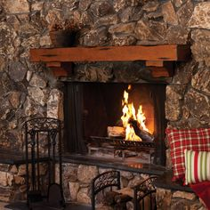 A Blazing Hearth For The Heart On Pinterest Fireplaces Stone Fireplaces And Christmas Fireplace