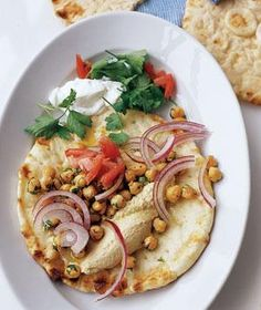 Vegetarian: Crispy Chickpea Pita recipe (can be vegan without the yogurt)
