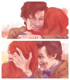 Doctor Who and Amy   Trust me,I'm the Doctor.   by *viria13 on deviantART
