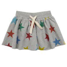Grey Stars Sweat Skirt star sweat, sweat skirt, star skirt, grey star, babi stuff