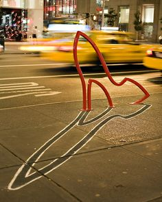The Ladies' Mile Bike Rack - David Byrne: One of the collection of 9 bike racks designed by David Byrne and installed in NYC.