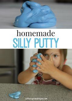 How to make Homemade Silly Putty Recipe #preschool #sensory #kidsactivities
