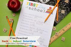 schools, school interview, giggl galor, school printabl, kid stuff, kiddo, thing, schoolopen hous, back to school