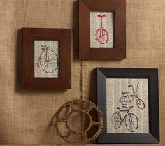 DIY Stenciled Bicycle Pictures