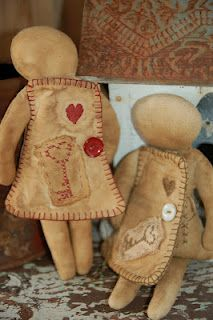 Sewing Doll....pattern from Barefoot Primitives