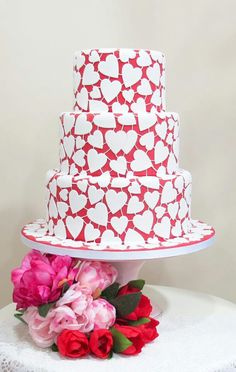 Heart shaped cake covered in white hearts lace cakes, cake wedding, cake cover, valentine cake, valentin cake, shape cake, heart shaped cakes, friendship cake, heart cakes