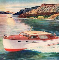 vintage chris craft cruiser motor boat