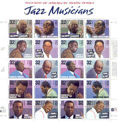 Jazz Musicians • Legends of American Music series • as part of the USPS collection • 1990s