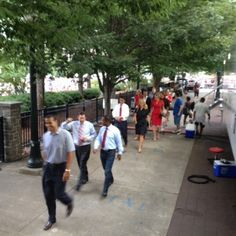 Behind The Scenes....News Team heading to  stage to surprise Monica!!  Happy 4th of July!