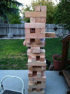 Yard jenga - what a fun game for outside!